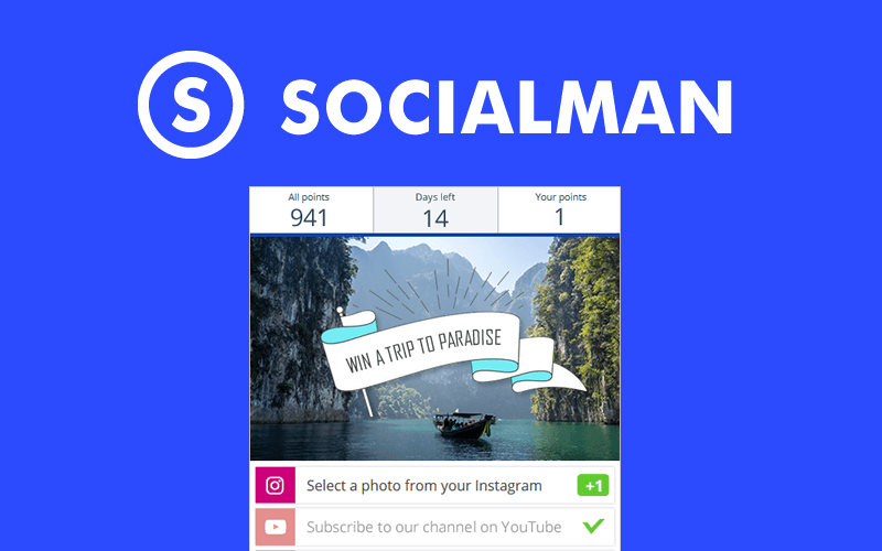Socialman | Giveaway App  🎁 Easy Tool for Social Media Giveaways