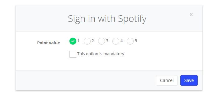 Sign in with Spotify