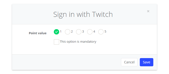 Sign in with Twitch