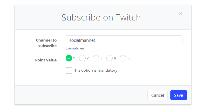 Subscribe on Twitch